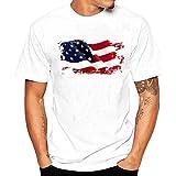 Casual Tops Loose Fit,Men Printing Tees Shirt Short Sleeve T Shirt Blouse L4,White,L4