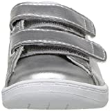 Lacoste Baby Carnaby EVO Sneaker, Silver Synthetic, 4. Medium US Toddler