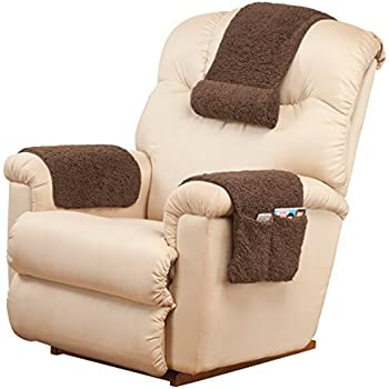 Super Oakridge Miles Kimball 3 Piece Deluxe Set Sherpa Covers For Recliner Chair Armchair Cover Caddy 23 L X 14 5 W Standard Armrest Cover 23 L X 14 5 Inzonedesignstudio Interior Chair Design Inzonedesignstudiocom