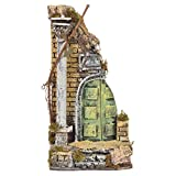 Holyart Antique temple in cork for nativities, 30x15x12cm