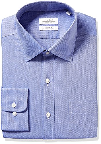 Enro Men's Classic Fit Queens Oxford Dress Shirt, Blue 15.5