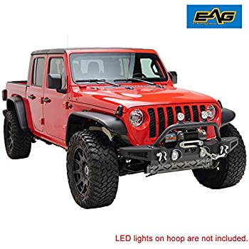 Amazon.com: EAG Front Bumper with LED Lights and Winch ...