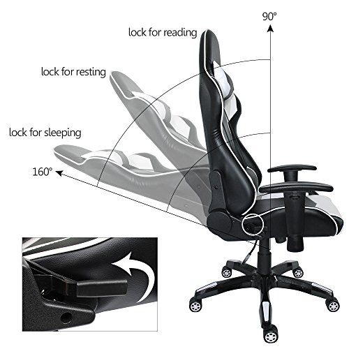 Magnificent Proht Nas Racing Style Chair 05183A 180 Degree High Back Andrewgaddart Wooden Chair Designs For Living Room Andrewgaddartcom