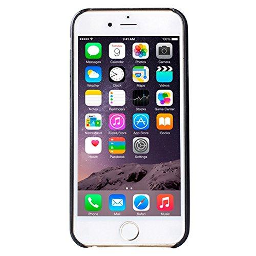 Phone Taschen & Schalen Ultra-dünner schützender lederner rückseitiger Abdeckungs-Fall für iPhone 6 Plus u. 6S Plus ( Color : Black )
