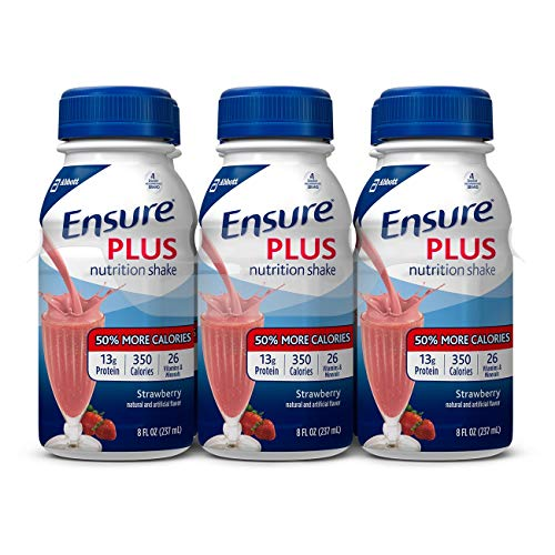 Ensure Plus Strawberry Flavor 8 oz. Bottle Ready to Use, 57269 – Each