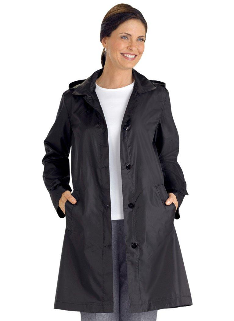 AmeriMark Women's Packable Raincoat - Medium / 10-12 - Black