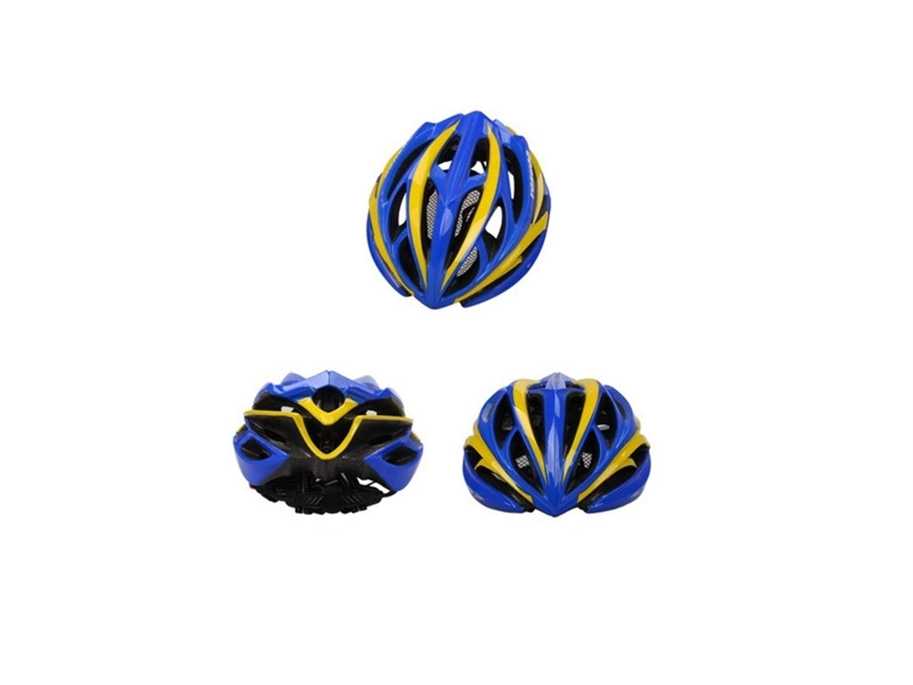Multi-Sport Helmet Men Women Ventilation Bike Helmet Porous One-Piece Bicycle Helmet(Blue+Yellow) Rollerblading Protective Gear Blue Bridge