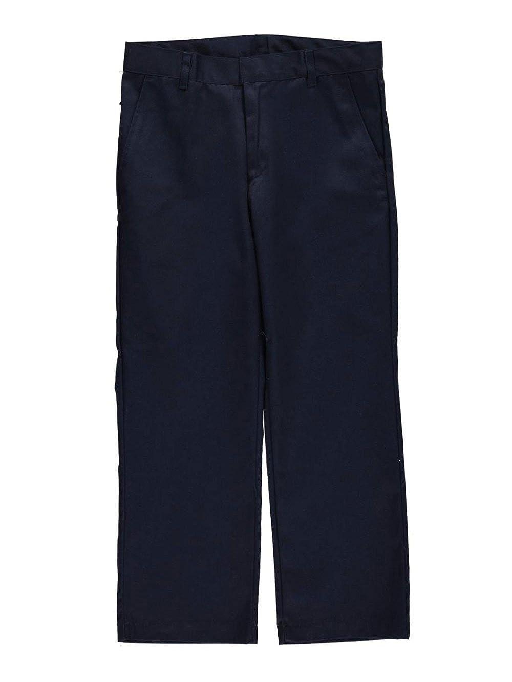 Galaxy School Uniforms Big Boys' Husky Double Knee Pleated Pants - navy, 18 husky