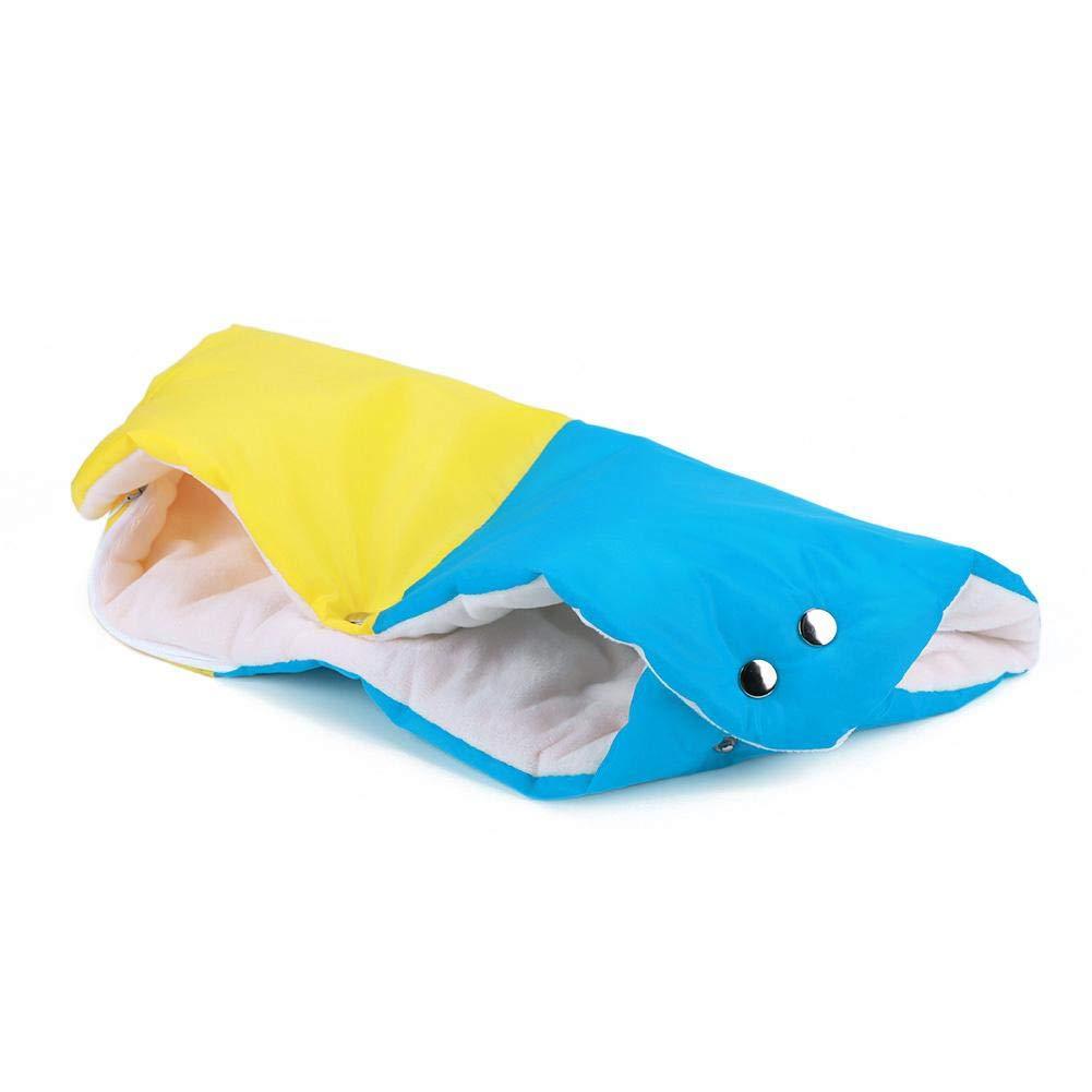 Manoplas para cochecito de beb/é anticongelante, c/álidas, sin dedos, para todos los cochecitos Seawang beige beige