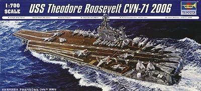 Trumpeter 1/700 USS Theodore Roosevelt CVN71 Aircraft Carrier 2006 Model Kit by Trumpeter