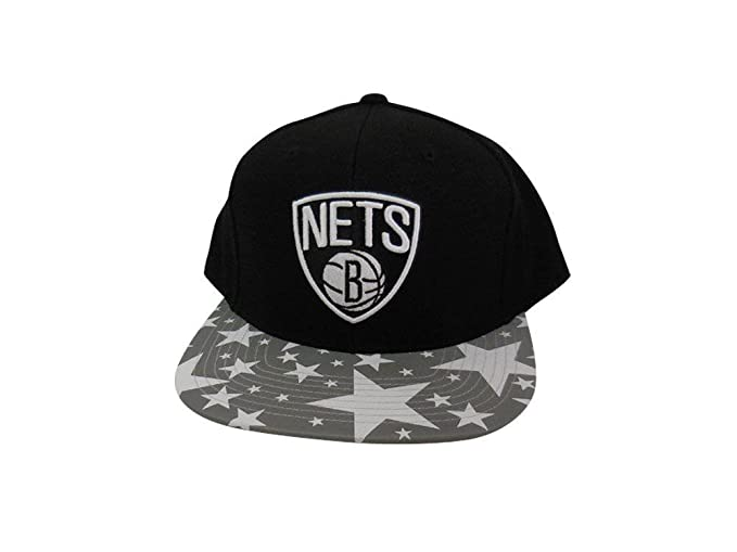 pretty nice 91ea7 d2c6e Mitchell   Ness Men s NBA Reflective Star Pattern 2T Snapback Hat, Brooklyn  Nets