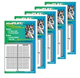 MiniPLOT Graph Paper pads: 5 pads of 3x3 inch adhesive backed XY axis coordinate grid paper. 50 sheets per pad. Grid = 20x20 squares. Use for homework, taking notes in class, tests & more