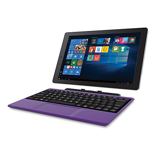 "2018 Newest Premium High Performance RCA Cambio 10.1"" 2-in-1 Touchscreen Tablet PC Intel Quad-Core Processor 2GB RAM 32GB Hard Drive Webcam Wifi Microsoft Office Mobile Bluetooth Windows 10-Purple"