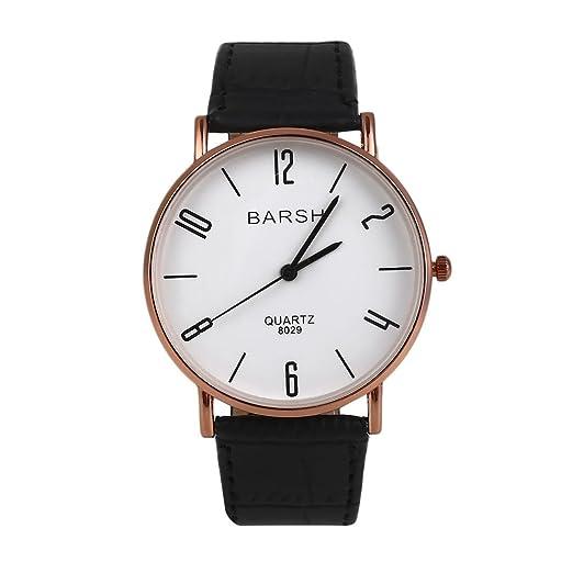 Rosepoem Reloj de cuarzo Relojes de diseño simples Negocio de relojes de pulsera Casual reloj de