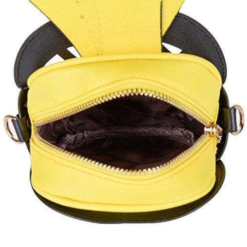 forma casuale PU donna corpo fuori croce Onfashion borsa 1 della borsa giallo la ananas scava qtSAwx7w