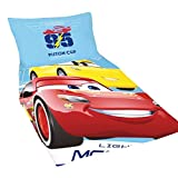 Disney Cars 2 Childrens/Boys Official Lightning McQueen Duvet Cover Bedding Set (Twin) (Multicolored)