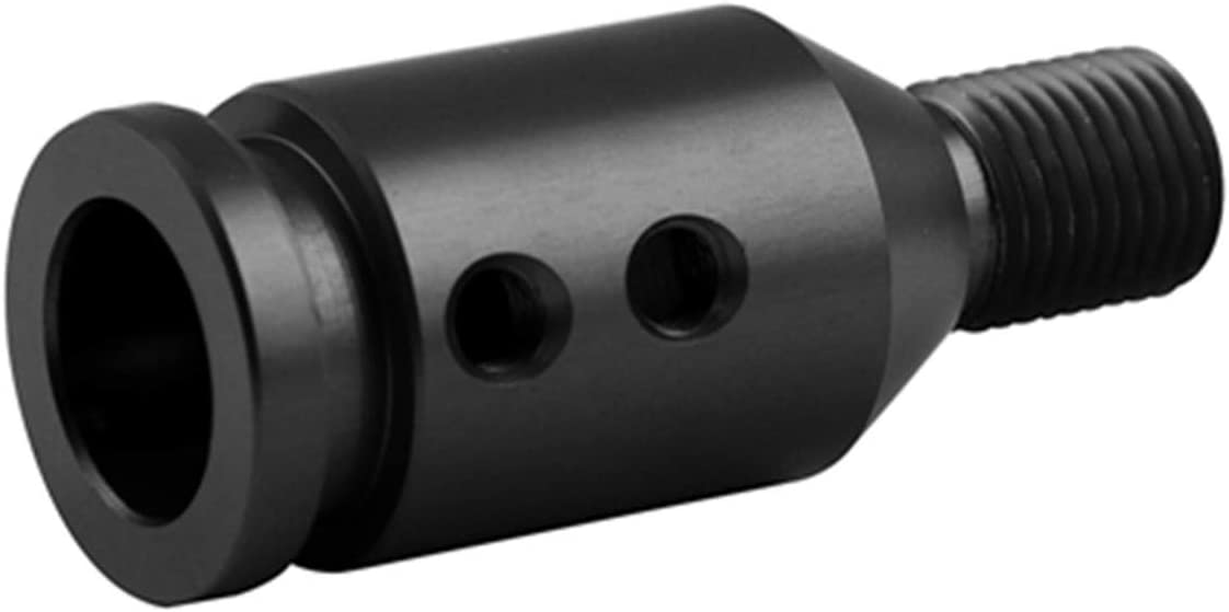 for BMW Mini Cooper Shift Knob Adapter M12x1.25 Universal Manual Transmission Non Threaded Shift Knob Shifter Adapter Aluminum Black