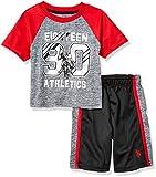 U.S. Polo Assn. Boys' 2 Piece Sleeve Athletic T-Shirt and Short Set