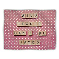 Kess InHouse Nastasia Cook 'Wild Hearts Can't Be Tamed' Pink Dots Dog Blanket, 40 by 30-Inch