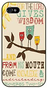 For the Lord gives wisdom and from his mouth come knowledge -Faces in tree love - Bible verse iPhone 5 / 5s black plastic case / Christian Verses