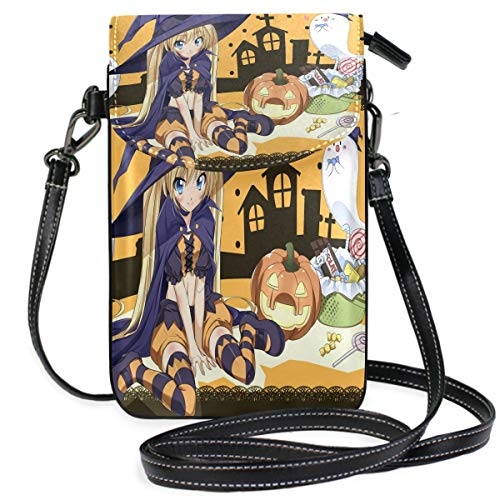 Iphone 5 Halloween Wallpapers (Cool Anime Halloween Wallpaper Small Crossbody Bag Cell Phone Wallet Womnes Cute Leater)