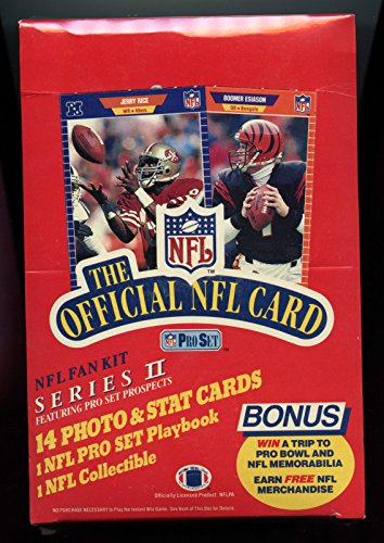 (1989 Pro Set Football Card Wax Pack Box Series 2 Barry Sanders Rookie FACT SEAL )