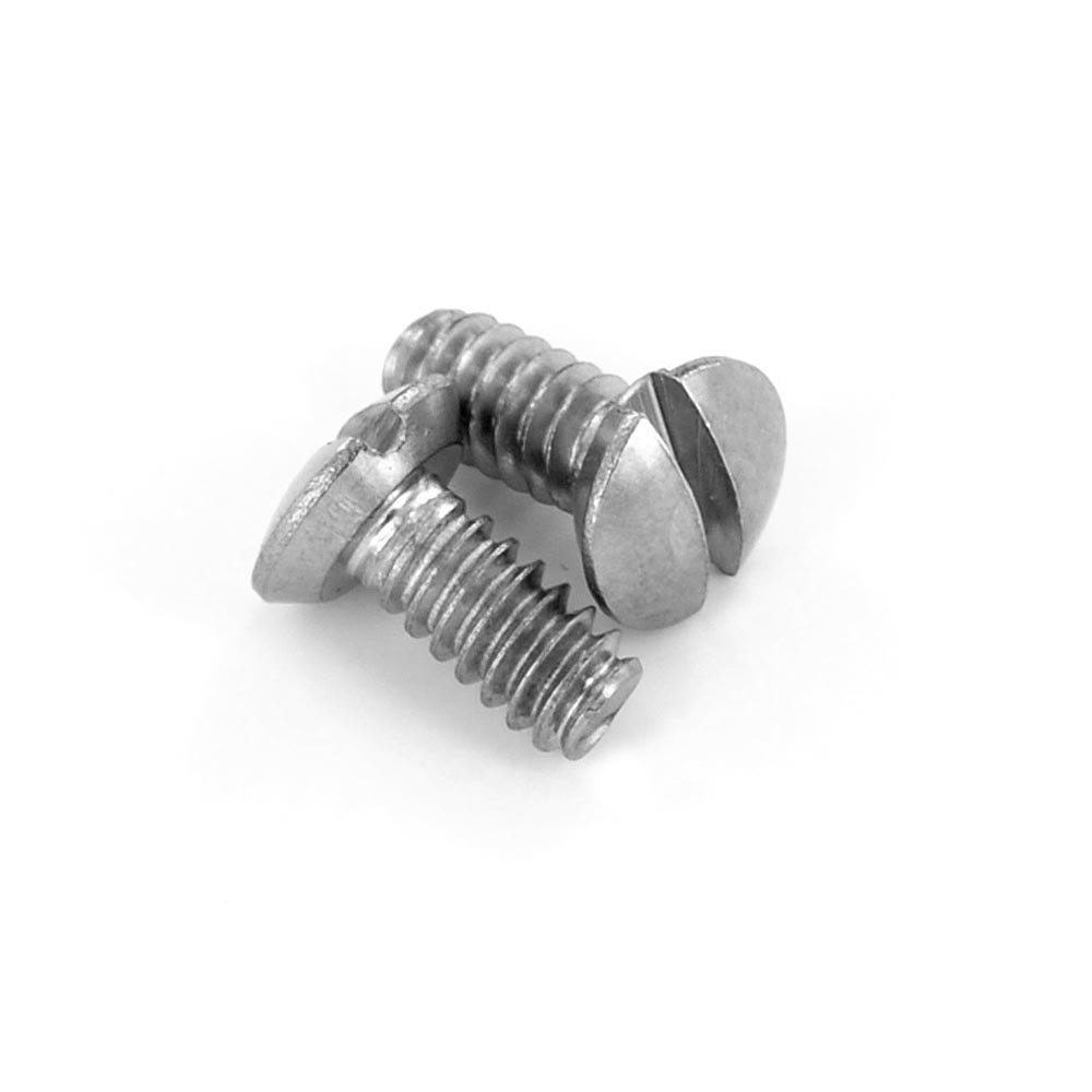 Leviton 84400-PRT 5/16-Inch Long 6-32 Thread, Oval Head Milled Slot Replacement Wallplate Screws (Stainless Steel)