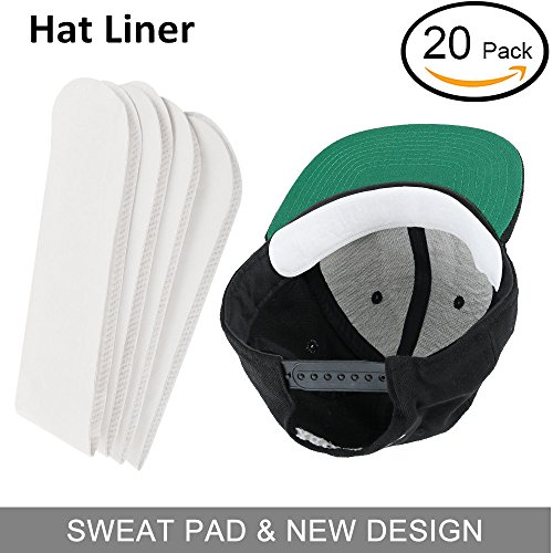(Anti Sweat Hat Liner Cap Protection - Neck Sweat Pad Hat Stains Rings, Moisture Wicking, Sweatband Reduce Odors Hyperhidrosis for Golf,Cowboy,Visor,Baseball,Tennis,Hunting Hat or Bike/Moto Helmet)