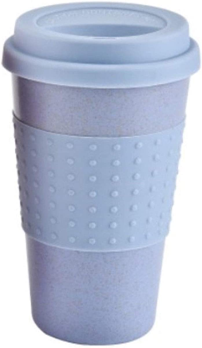 EYIIYE Reusable Coffee Cup, Wheat Straw Fiber Non-Toxic Travel Mug for Home, School, Travel and Office