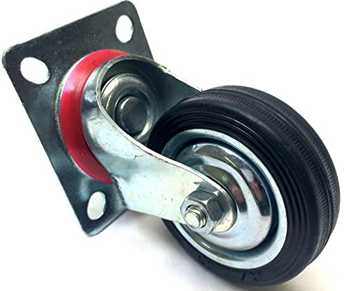 Single-Swivel-Caster-3-Steel-Plate-Rubber-Wheel-360-Degree-Wheel