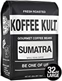 Sumatra Mandheling Coffee Beans, Whole Bean - Fresh Roasted Coffee by Koffee Kult 32oz