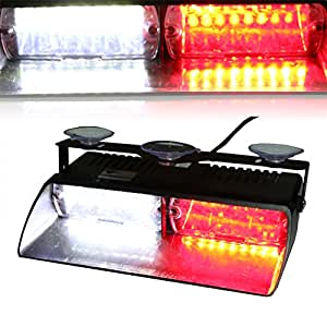 T tocas 16 led high intensity led law enforcement emergency hazard warning strobe for Interior car light laws california