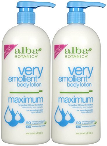 Moisturizing Body Lotion Very Botanica Alba Emollient Lotion (Very Emollient Body Lotion, Maximum Dry Skin Formula, 32 oz, 2 pk)