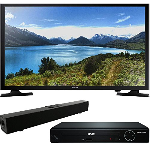 Samsung UN32J4000 32-Inch 720p LED TV with HDMI 1080p High Definition DVD Player and Solo X3 Bluetooth Sound Bar Bundle