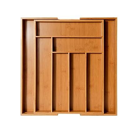 Li - Organizador de Cubiertos de bambú Natural, 6-8 ...