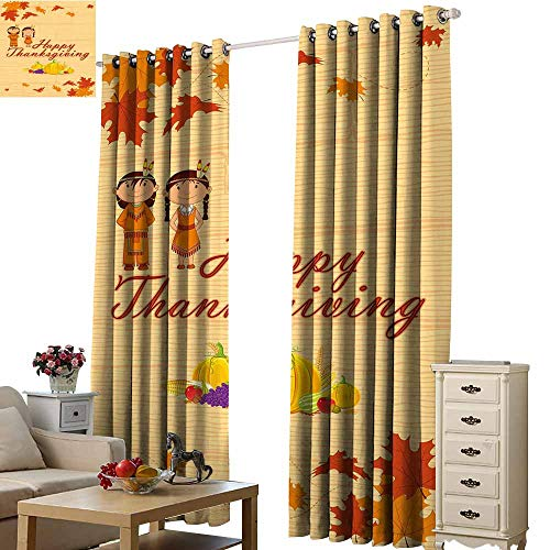 S Brave Sky Decor Curtains by,Single-Sided Printing Pattern W108 xL108,Suitable for Bedroom Living Room Study, etc.