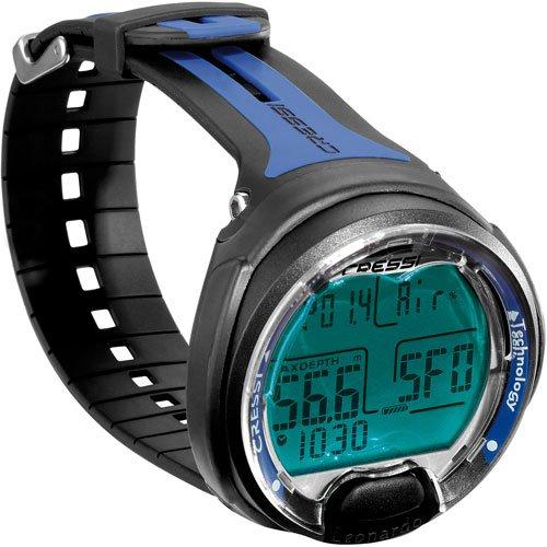 Cressi Leonardo Dive Computer Watch -Wrist (Black / Blue (Freediving Watch)