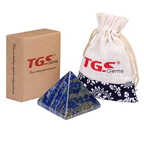 "TGS Gems® Pyramid-Finest Big Lazuli Lapis Gemstone 1.0"" Carved Pyramidal Crystal Healing Crafts"