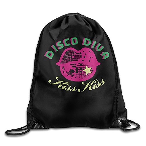 Disco Diva Cool Drawstring Travel Sports Backpack (Disco Ball Diva Costume)