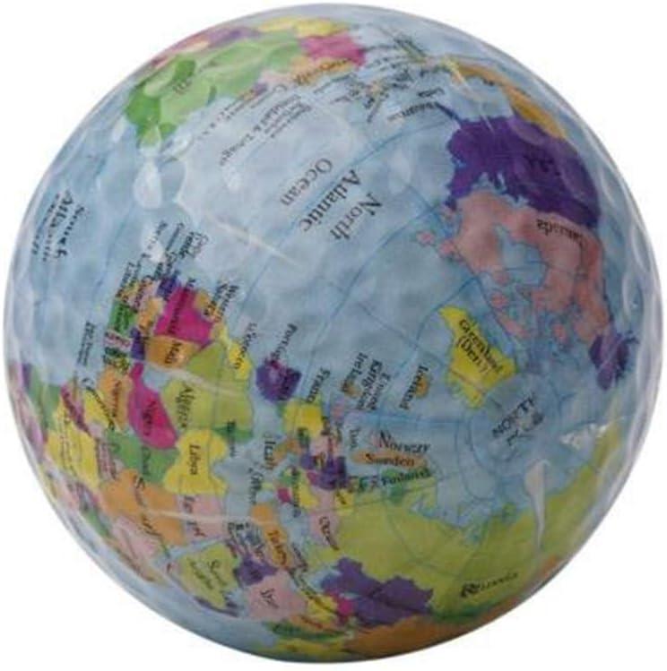 MMLUCK Novelty Globe Map Patten Golf Balls, Unique Professional Practice Golf Balls for Kids Men Women Christmas Birthday Gift