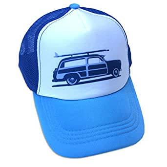 4a845c291f0 Amazon.com  Sol Baby Surf Woody Car Trucker Hat-S-Blue  Clothing