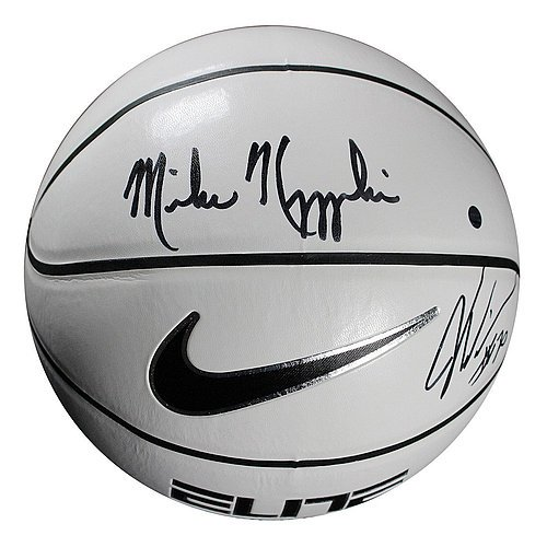 Mike Krzyzewski/Justise Winslow Dual Autographed Nike Elite White Panel Regulation Basketball - Certified Authentic Autograph (Regulation Autograph)