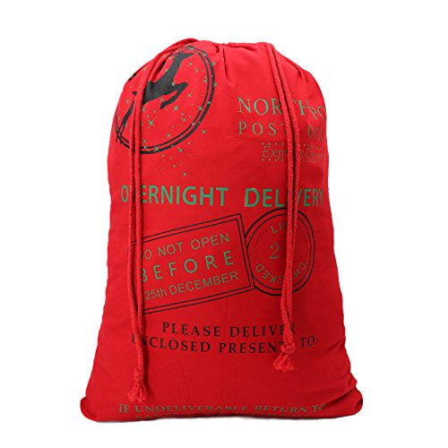 Christmas Sack Reindeer Delivery Present Bags From North Pole Christmas Present Bags for Kids Large Christmas Decoration Stocking-Patten 5