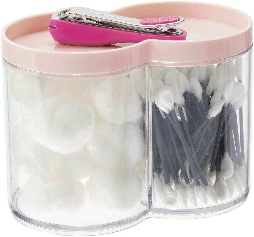 mDesign Caja organizadora de plástico – Tarros de plástico ideales ...