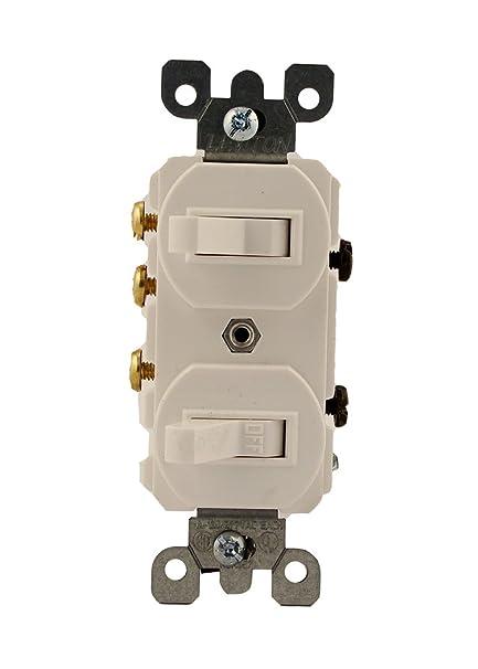 Leviton 5241W 15 Amp 120277 Volt Duplex Style SinglePole3Way