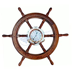 51qvy%2BcYX1L._SS300_ Best Ship Wheel Clocks