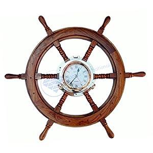 51qvy%2BcYX1L._SS300_ Coastal Wall Clocks & Beach Wall Clocks