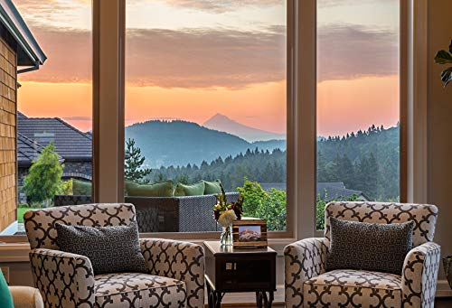 Leyiyi 10x8ft Photography Background Sunset Backdrop Business Meeting Room Sofa Holudy Resort French Window Vista Mountain Enchangted Forest Hotel Room Inside Wedding Photo Portrait Vinyl Studio Prop