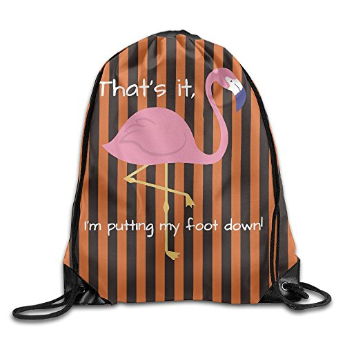 Easy Male Homemade Costumes (That's It I'M Putting My Foot Down Folding Sport Backpack Drawstring Bag Customize)