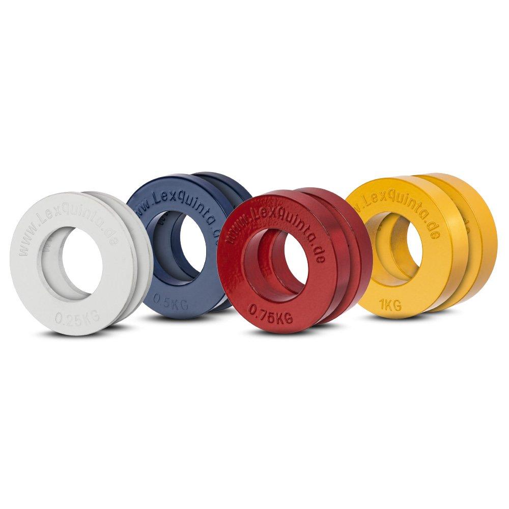 Lex Quinta Fractional Plate Set - 4 Paar - Für 50mm Hanteln